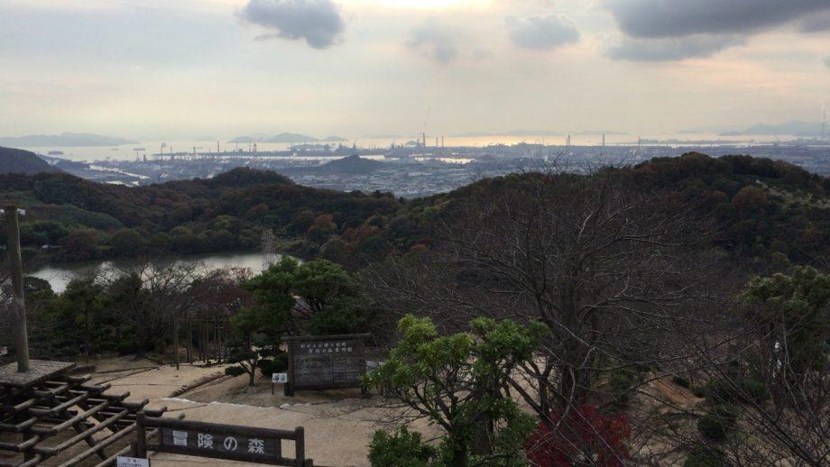 種松山から水島方面風景