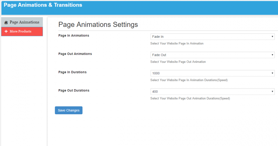 Page Animations And Transitions