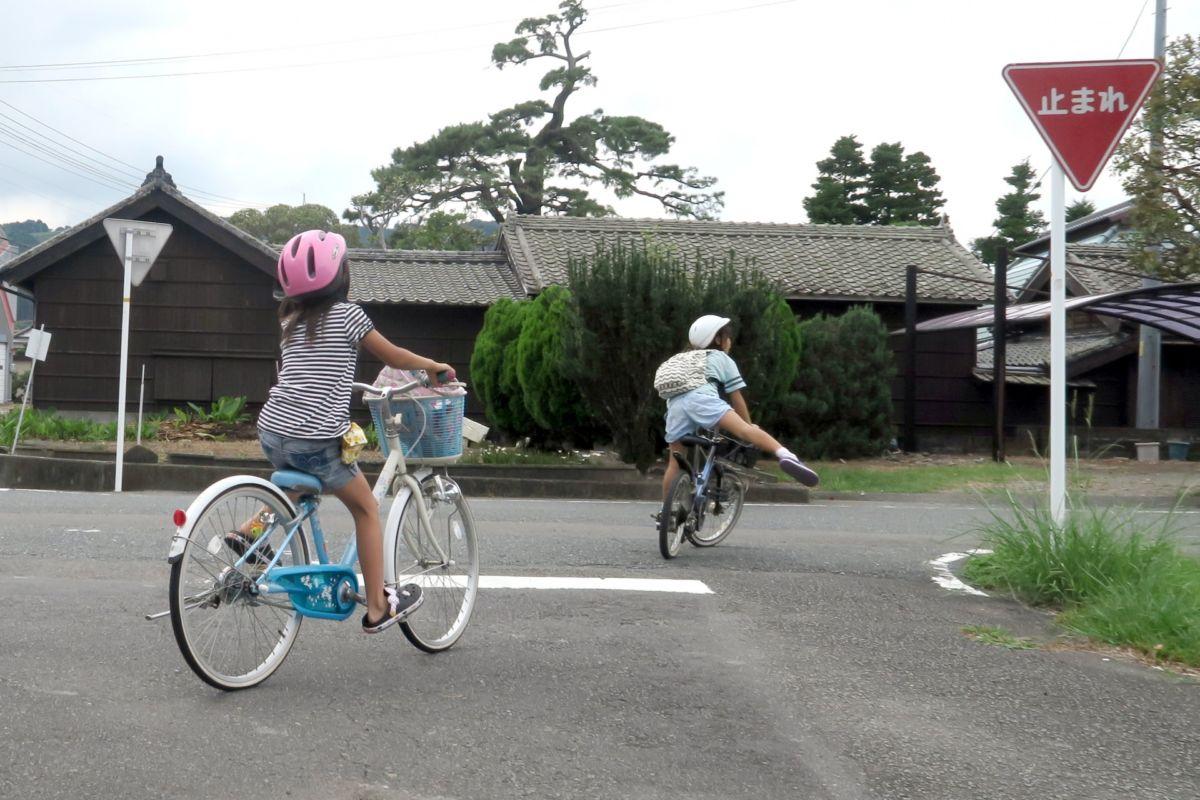 自転車上手な子ども