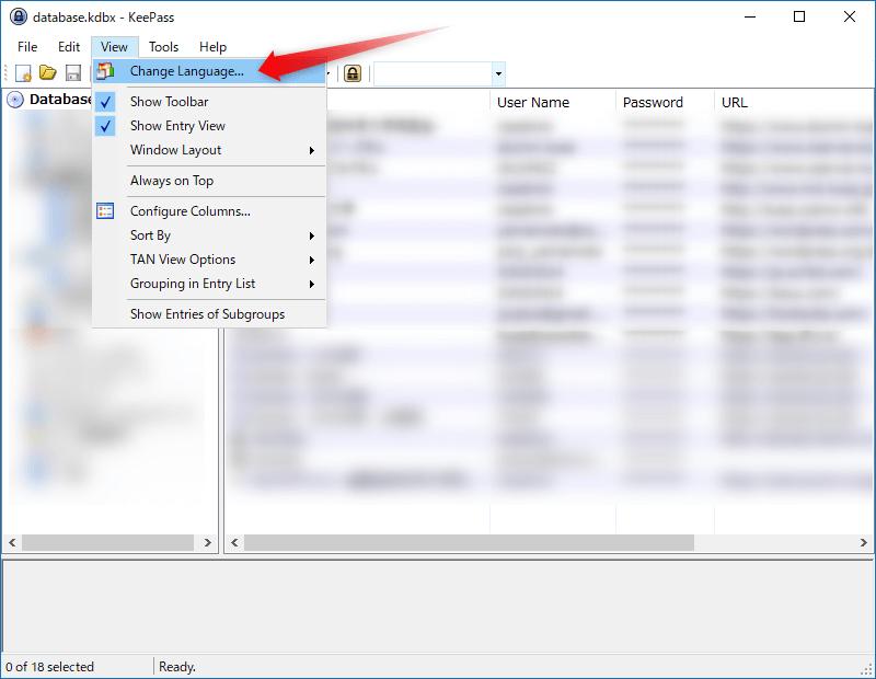KeePass Change Language