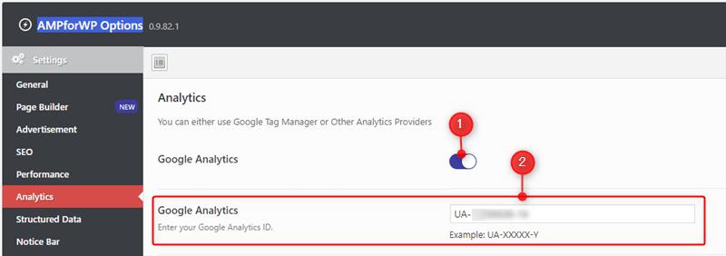 Google Analytics ID 設定