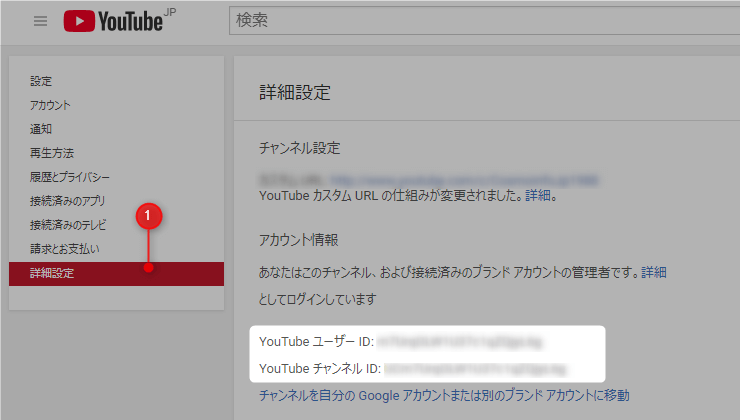 Channel ID 表示