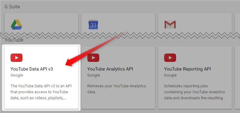 YouTube Data API v3
