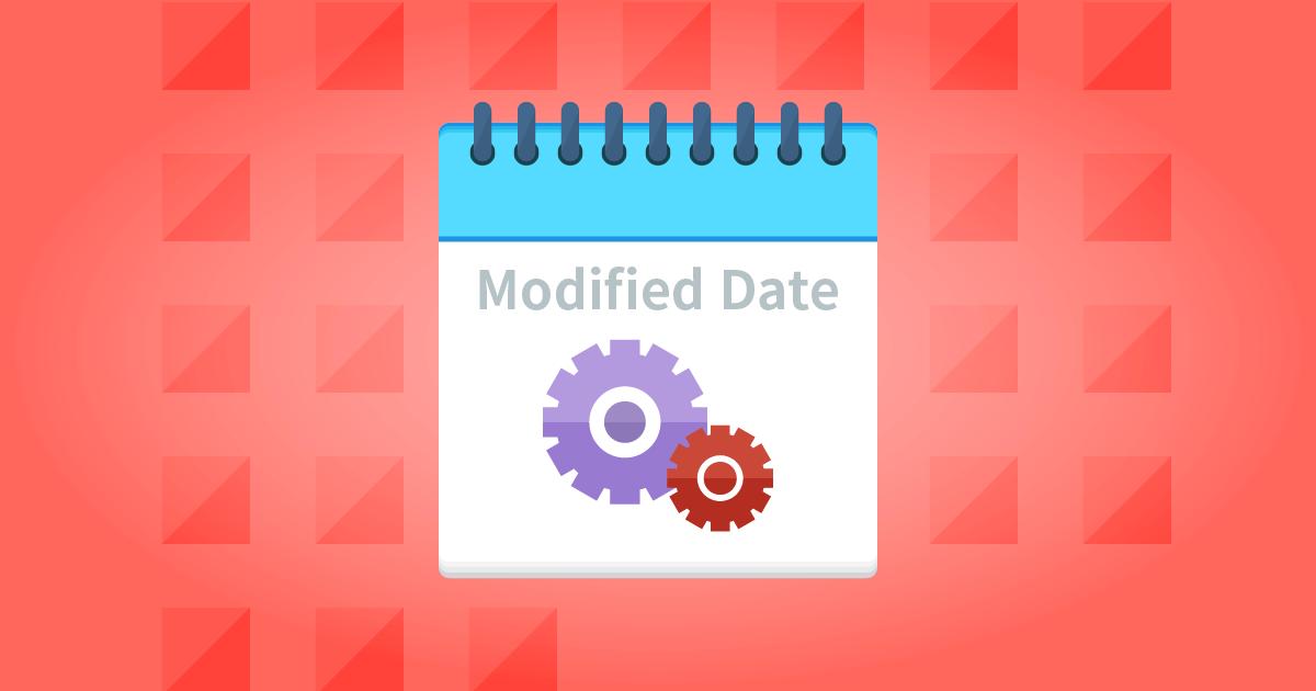Change Last Modified Date