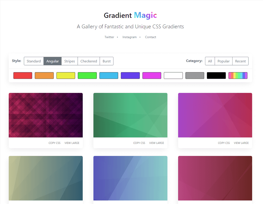 Gradient Magic Angular