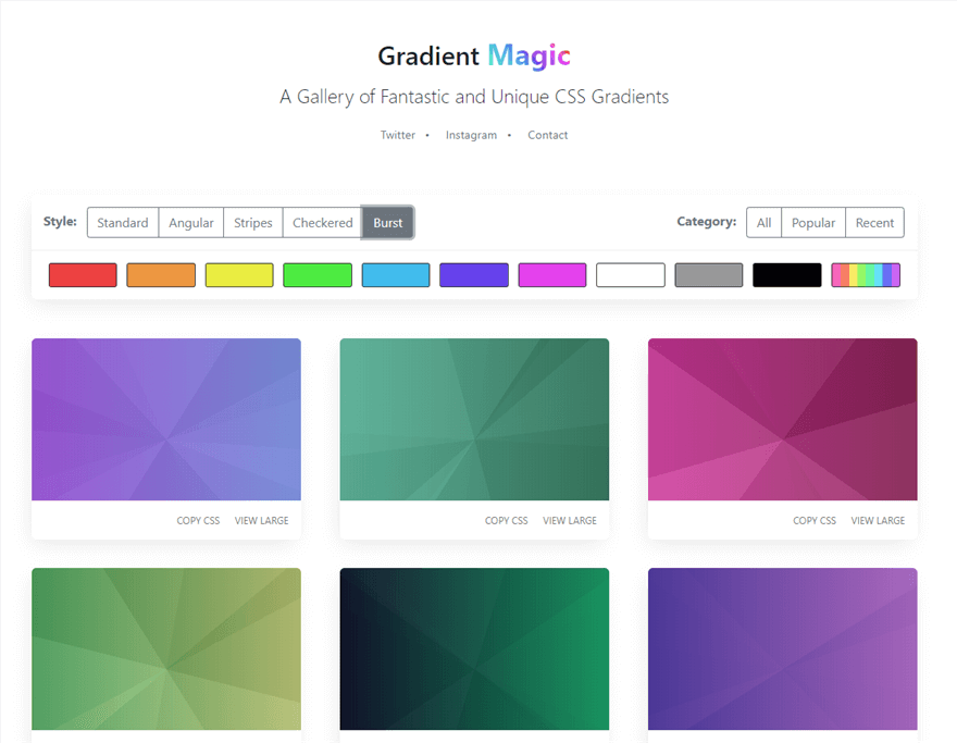 Gradient Magic Burst