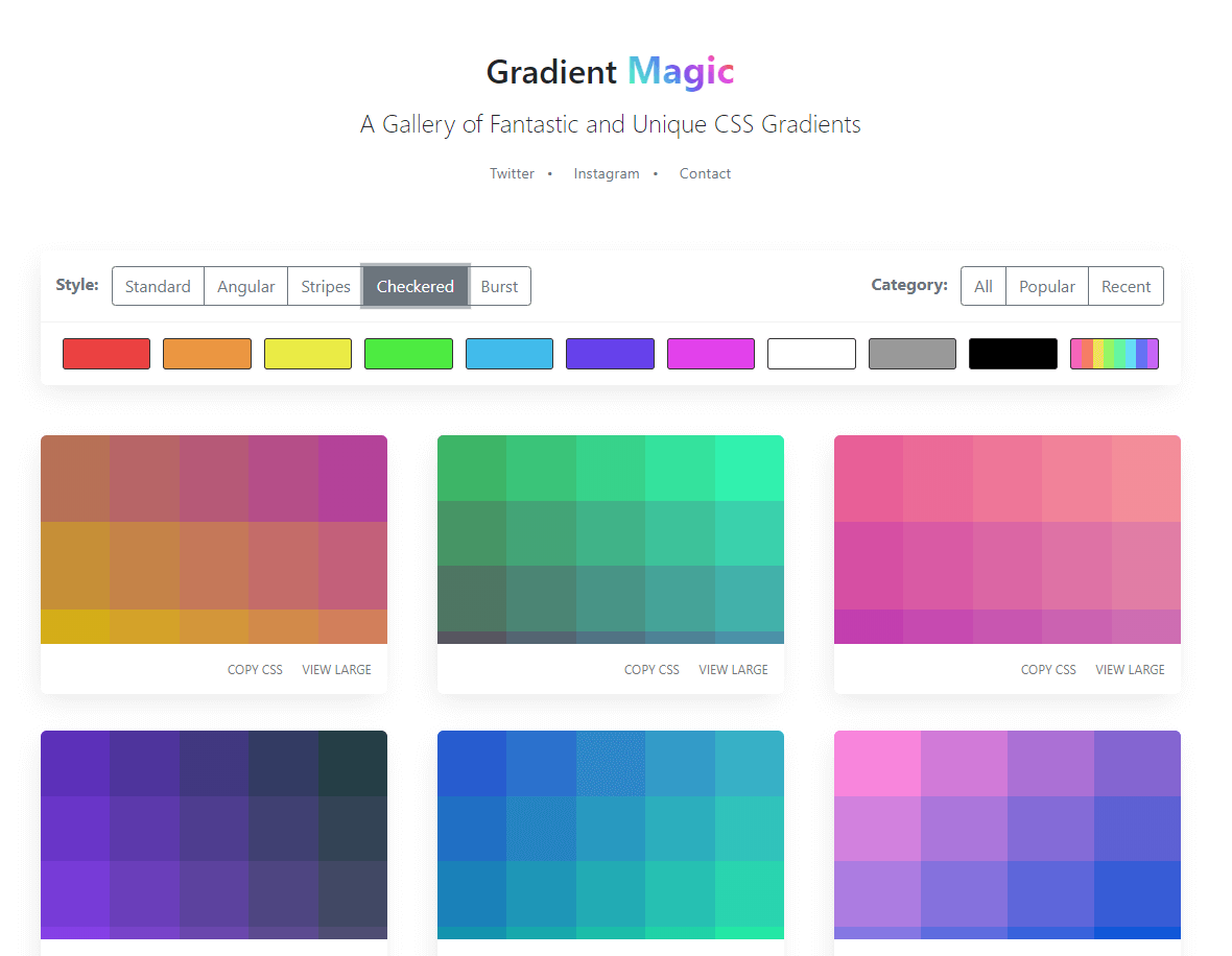 Gradient Magic Checkered
