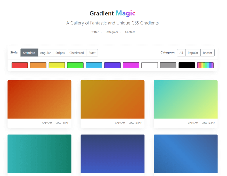Gradient Magic Standard