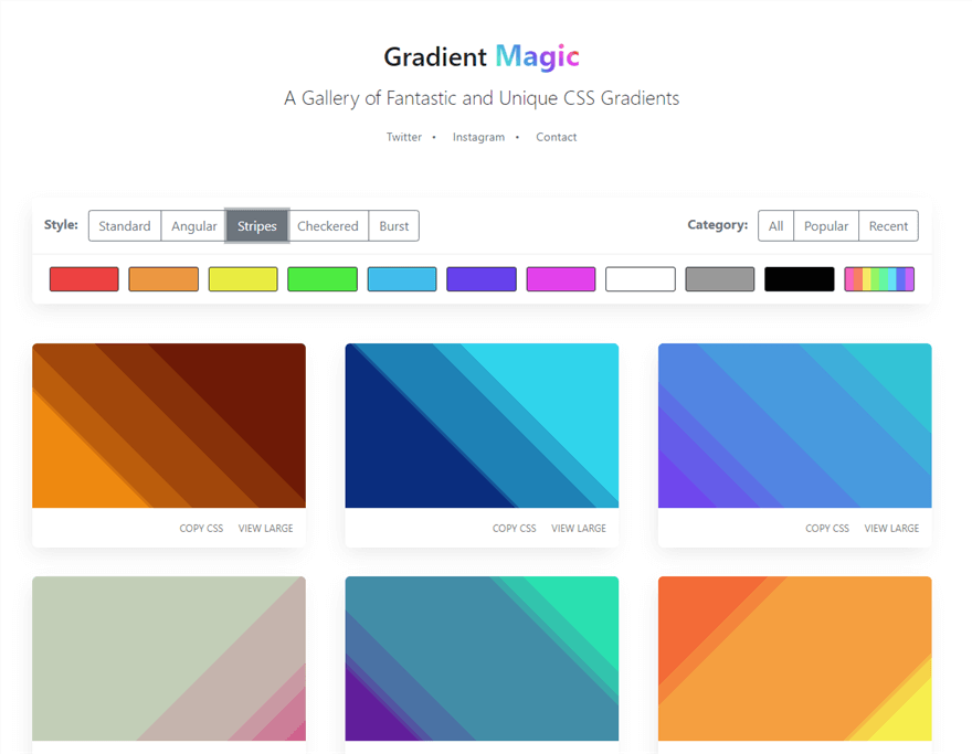 Gradient Magic Stripes