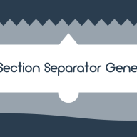 CSS Section Separator Generator