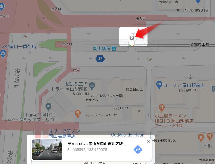 GoogleMapで座標取得